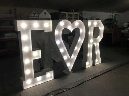 personalised light up letters