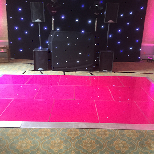Dance floor hire in the uk transform your venue for your special they look best either used as a complete pink dance floor or in stripes with white panels solutioingenieria Images