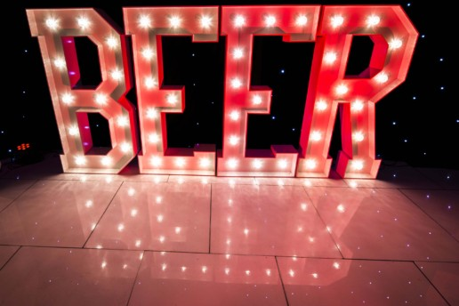 beer light up letters