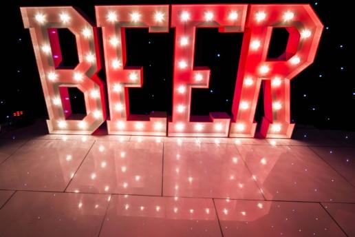 beer light up letters
