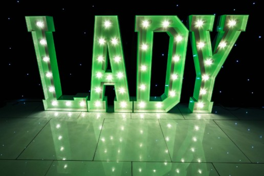 lady light up letters