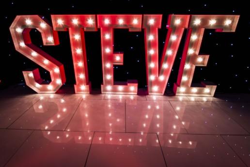 steve light up letters